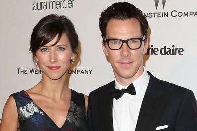 Камбербэтч с женой