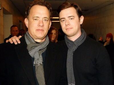 Том Хэнкс с сыном Коллином