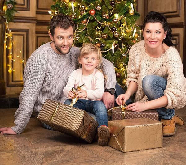 Екатерина Волкова с мужем и дочкой