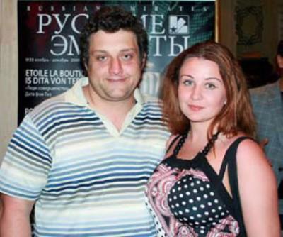 Актер Михаил Полицеймако с супругой актрисой Ларисой Муратовой