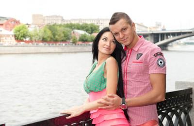 Евгения Филатова с мужем Антоном Гусевым
