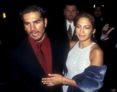 Дженнифер Лопес с первым мужем Оджани Ноа