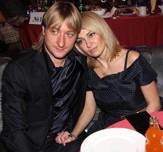 Яна Рудковская со вторым мужем Евгением Плющенко