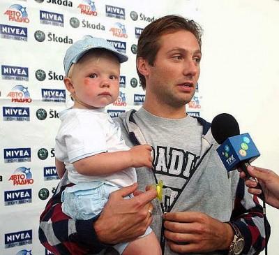 Алексей Морозов с сыном