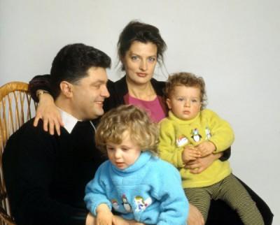 Марина и Петр с близняшками