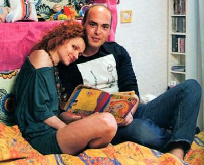 Антон с женой Ольгой