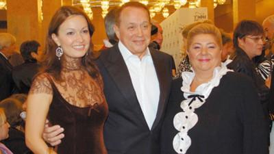 Александр Масляковс с любимой женой