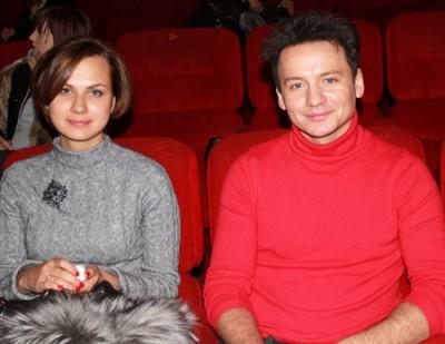 Александр Олешко с женой Ольгой Беловой