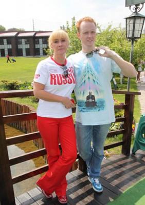 Оксана Пушкина с сыном