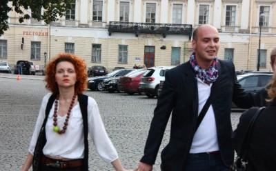 Антон Привольнов с женой