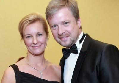 Валдис Пельш и его жена