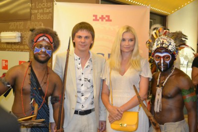 Дмитрий Комаров и ведущая Лидия Таран