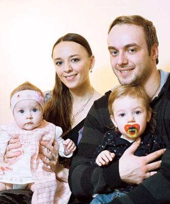 Максим с бывшей супругой Аллой и детьми
