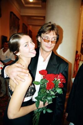 Домогаров с возлюбленной Мариной Александровой