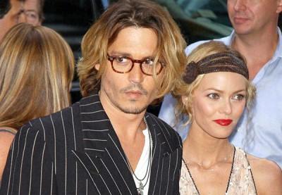 Джонни Депп с бывшей женой Ванессой