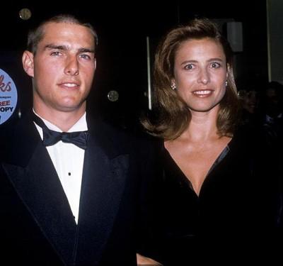 Том Круз с первой женой Мими Роджерс