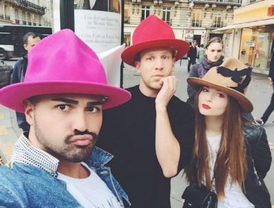 Иван Дорн с женой и другом