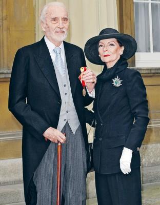 Кристофер Ли с женой Гитти Кроунк