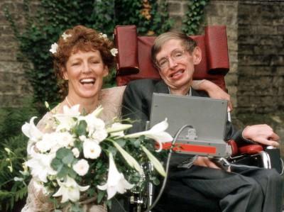 Стивен Хокинг со своей второй женой Элайн