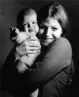 Анна Герман с сыном