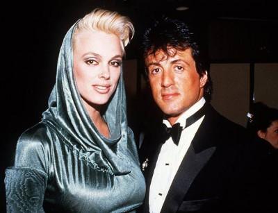 Сталлоне со второй женой Бриджит Нильсен