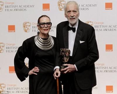 Британский актер Кристофер Ли с женой