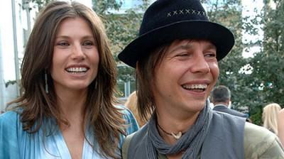 Илья Лагутенко с женой Анной Жуковой