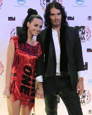 Кэти Пэрри с бывшим мужем Расселом
