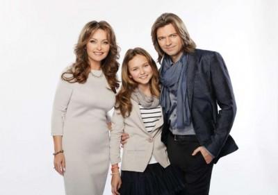 Дмитрий Маликов с женой и дочерью