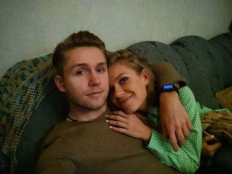 Влад Соколовский с женой