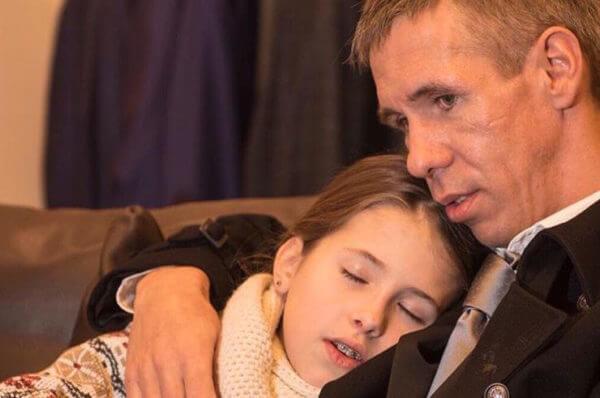 Алексей Панин с дочкой