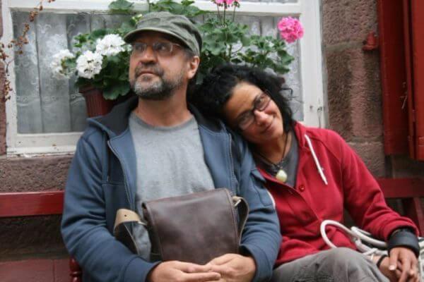 Юрий Шевчук с женой Катей