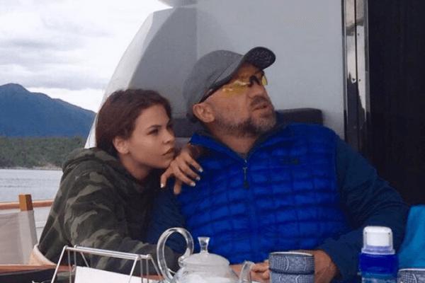 Настя и Олег Дерипаска на яхте