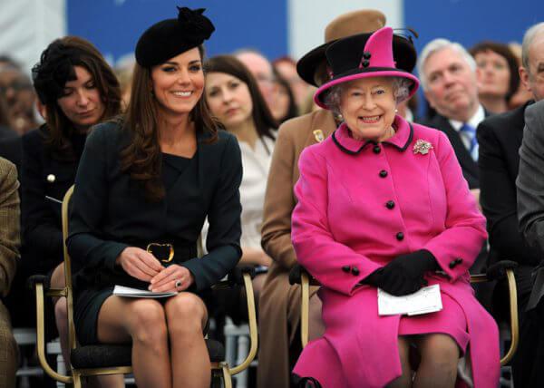 Кейт Мидлтон и Королева