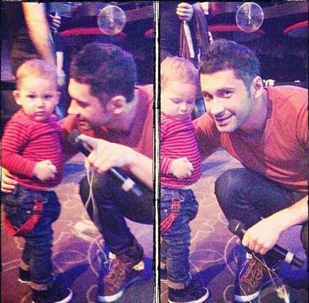 Дан Балан с сыном Аланом
