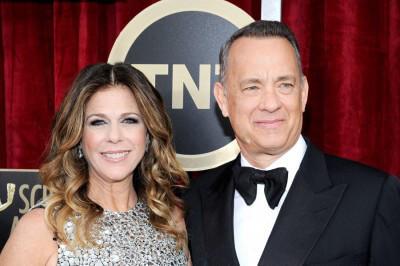 Том Хэнкс с женой Ритой Уилсон