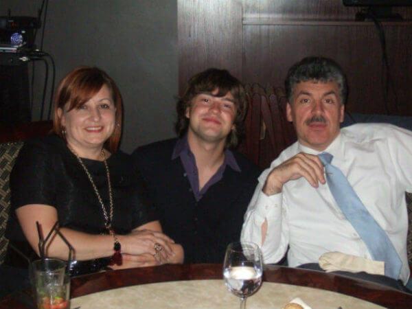 Грудинин с женой и сыном