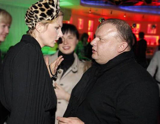 Рената Литвиновоа и ее муж Леонид Добровский