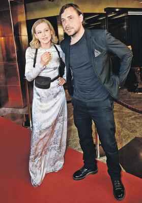 Юлия с актером Евгением Цыгановым